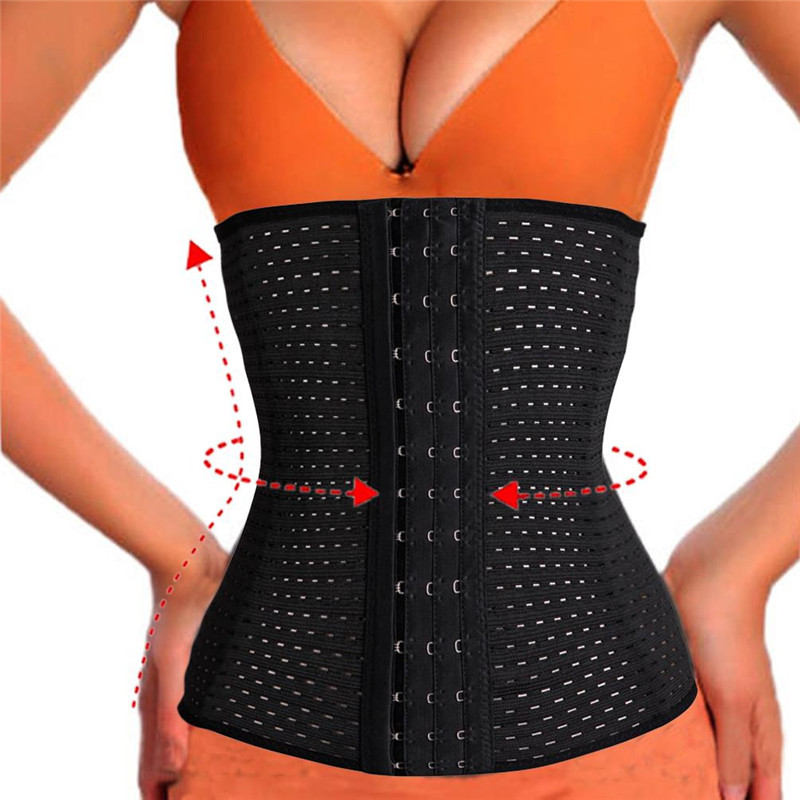 SEXYWG Women Yoga Shirts Fitness Sport Breathable Waist Trainer Modeling Belt Hot Body Shaper Tummy Pulling Underbust Belly Band