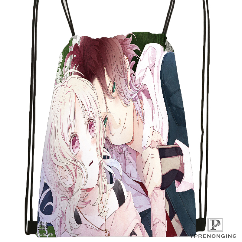 Custom DIABOLIK LOVERS 3 Drawstring Backpack Bag for Man Woman Cute Daypack Kids Satchel Black Back