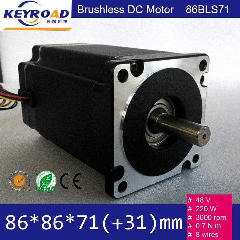 48 V 220 W 3000 Rpm 86mm MOTOR BLDC/NEMA34 Brushless Dc Série Do Motor Para A Máquina CNC/CE E ROHS APROVADOS, Aceitar Personalizado
