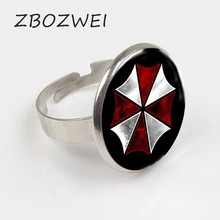 ZBOZWEI Newest Resident Evil Umbrella DIY Glass Ring Steampunk Gothic High Quality Ring 2018 New(China)