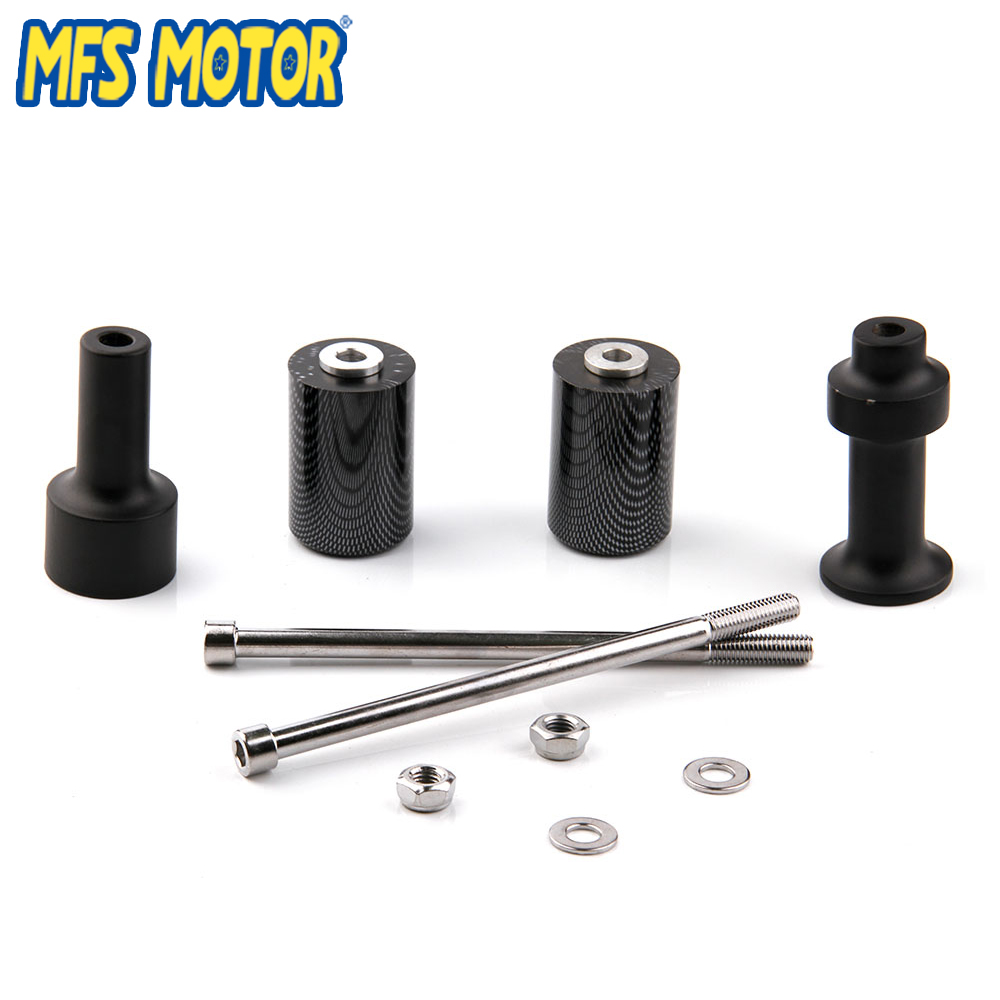Freeshipping motorcycle parts No Cut Frame Slider Protector For Kawasaki 2003 2004 2005 2006 Z1000 Carbon in Falling Protection from Automobiles Motorcycles