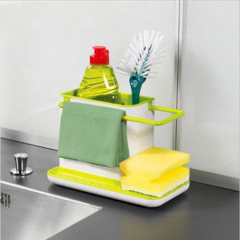 Cleaning Kitchen Utensils: 1pc 3 IN 1 Multifunction Glove Storage Debris Rack