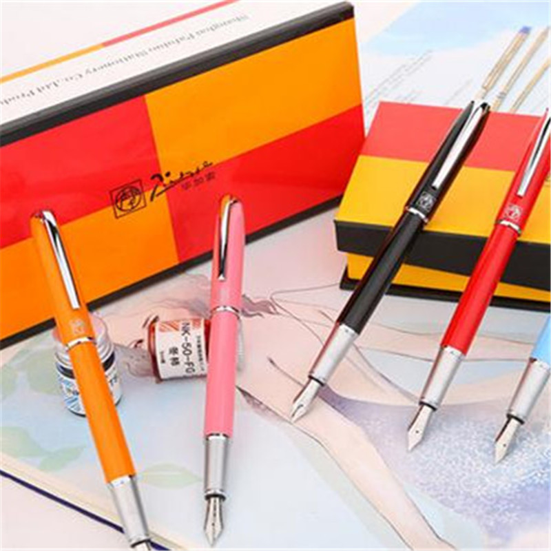 1pc/lot Picasso 916 Fountain Pens Malaga 7 Colors Black/Pink/Orange/Blue/Pink Brand Pen Writing Supplies Stationery 13.6*1.1cm 1pcs lot free shipping picasso fountain pen 986 pimio picasso pens for women girls gifts 5 colors white red brand pen not box