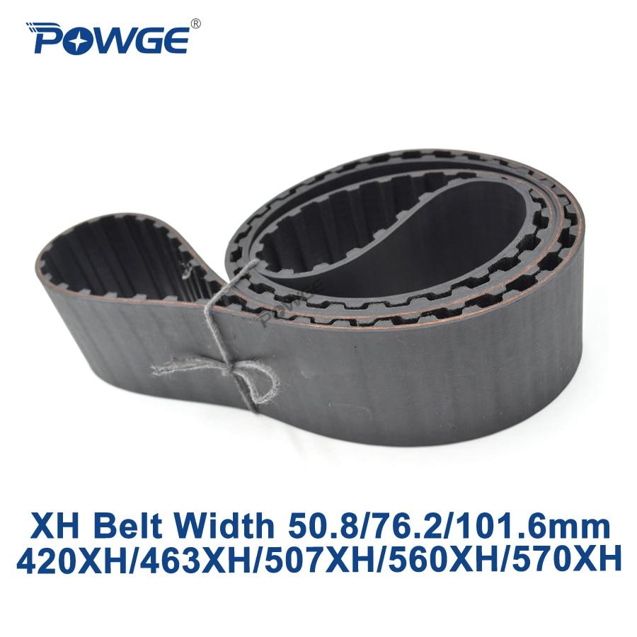 POWGE Inch XH Synchronous belt 420XH/463XH/507XH/560XH/570XH Teeth 48 53 58 64 65 Width 50.8/76.2/101.6mm Rubber timing BeltPOWGE Inch XH Synchronous belt 420XH/463XH/507XH/560XH/570XH Teeth 48 53 58 64 65 Width 50.8/76.2/101.6mm Rubber timing Belt