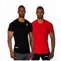 Hot Sell 2016 Summer    Top Cotton Gasp   T Shirts Men Gymshark Muscle Men Shirt Fitness Bodybuilding Man Short Sleeve Tees