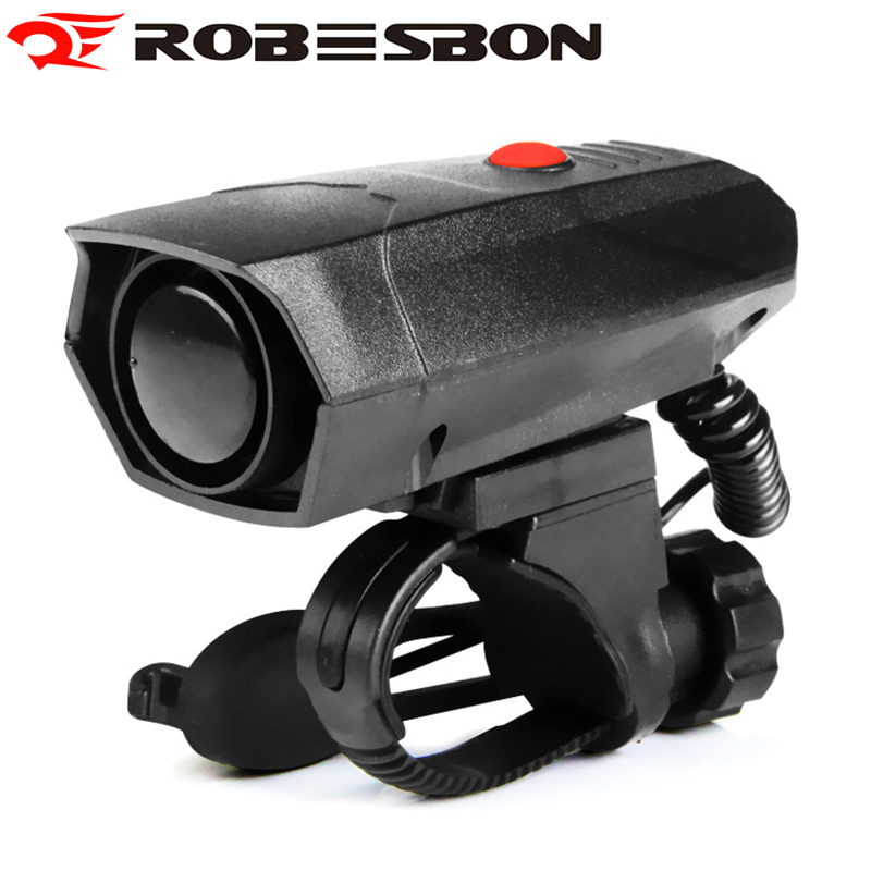 ROBESBON Bicycle Bell Cycling Electric Horn Bike Handlebar Ring Strong Loud Alarm Sound 100-120 DB