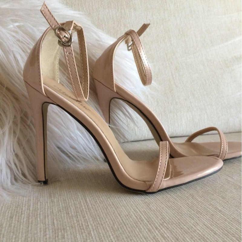 429ae44d8 ... Модные Классические брендовые сандалии ZA R с открытым носком и пряжкой  на высоком каблуке-шпильке ...