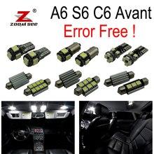 20 шт. X canbus без ошибок для Audi A6 S6 RS6 C6 Avant Wagon светодиодный светильник для внутренней купольной карты комплект посылка(2005-2011
