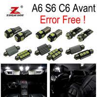 20 pc X canbus 100% aucune erreur pour Audi A6 S6 RS6 C6 Avant Wagon LED intérieur dôme carte Kit de lumière (2005-2011)