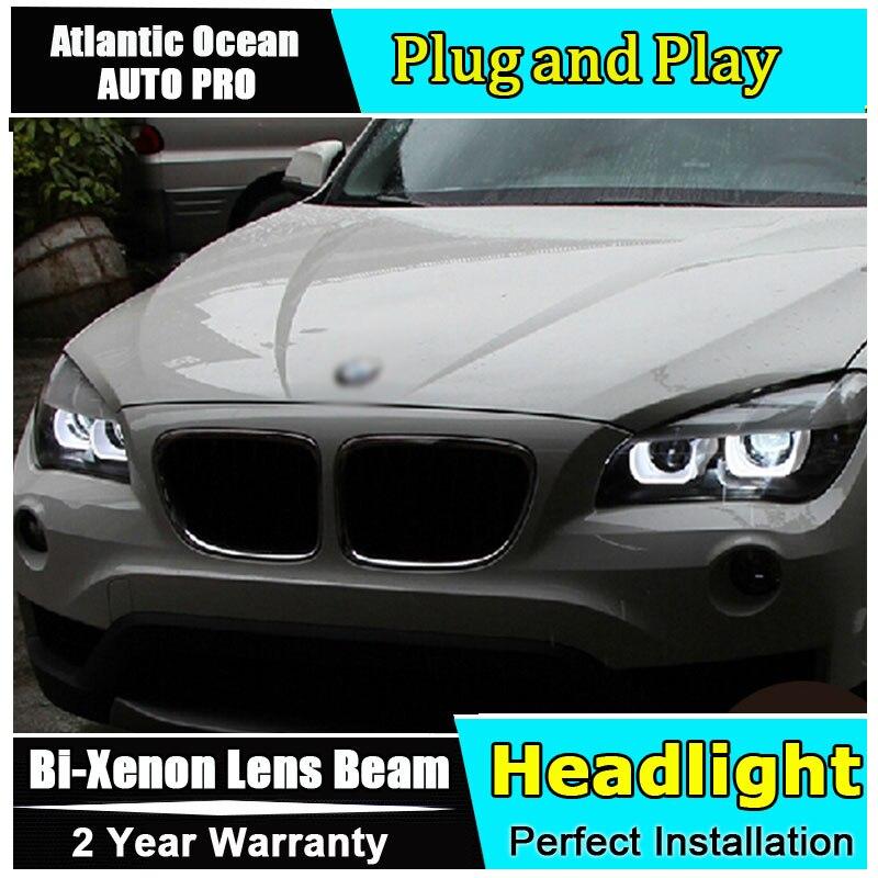 Стайлинга автомобилей светодиодные лампы головного света для BMW E84 Х1 фары светодиодная фара 120 125 ангел глаз фары би ксенон передние accesspories