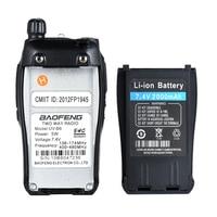 מכשיר הקשר 2pcs Baofeng UV-B6 Portable מכשיר הקשר UV B6 שני הדרך רדיו Dual Band VHF / UHF Woki טוקי 5W FM משדר רדיו (5)