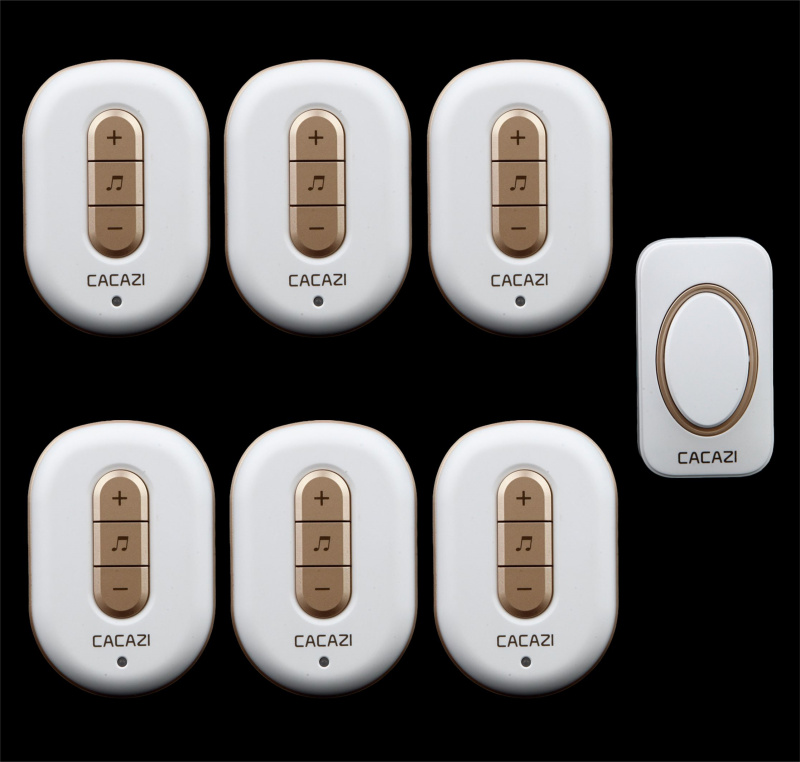 Free shipping! 1 transmitter + 6 Receiver New Wireless Doorbell With Remote Control Musical 48Tunes Digtal doorchimeFree shipping! 1 transmitter + 6 Receiver New Wireless Doorbell With Remote Control Musical 48Tunes Digtal doorchime