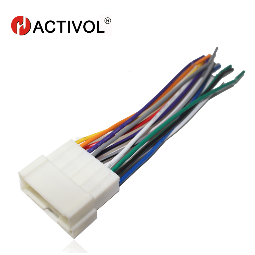 car radio stereo female iso plug power adapter wiring harness special for hyundai sonata elantra tucson iso harness power cable [ 1000 x 1000 Pixel ]