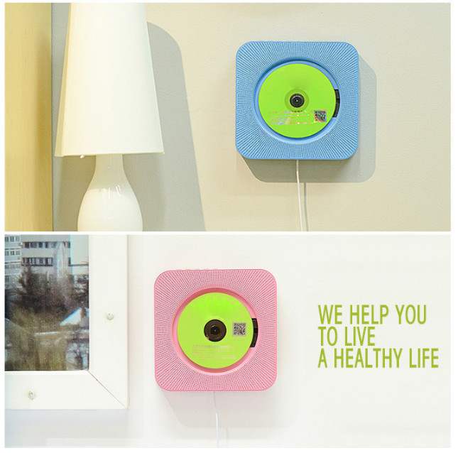 Wall-mounted CD player Bluetooth FM radio CD stereo prenatal fidelity digital amplifier Free Shipping