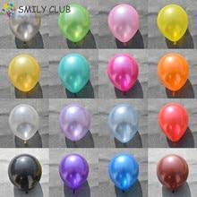 100 PCS/lot 10inch 1.5g Pearlized balloons Helium Wedding Decorations Metallic Ball Baby birthday party Toy Latex Ballon
