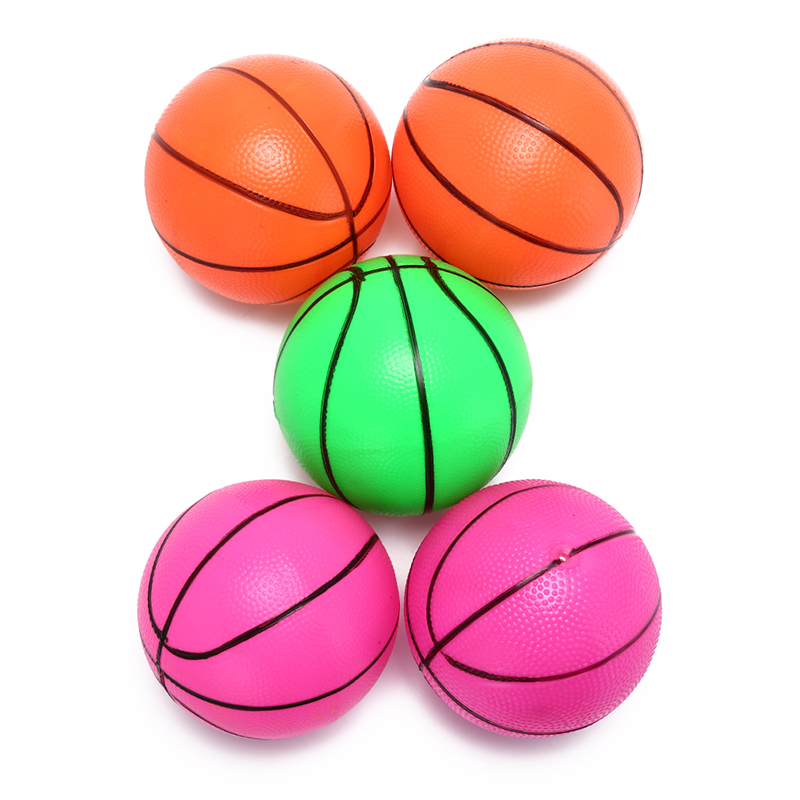1pcs 16cm Inflatable PVC Basketball Beach Ball Balls Color Randomly Kid Adult Outdoor Fun Sports Toy