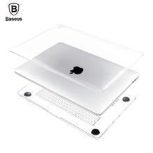 BASEUS чехол для ноутбука Apple MacBook Pro Air 13 12 11 Retina A1465 A1534 A1466 A1245 A1278 прозрачного хрусталя полный тела Чехол