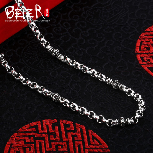 Beier new store 100% 925 silver sterling necklaces pendants trendy fine jewelry chains necklace for women/men  BR925XL039
