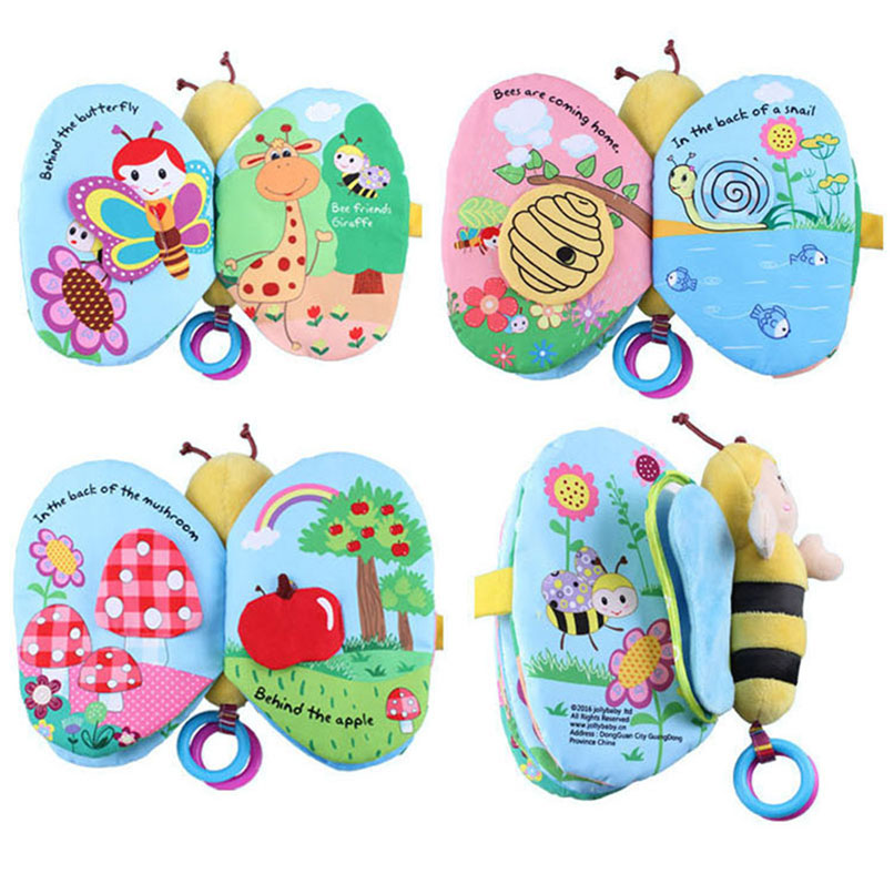 Lovely Insect Baby Soft Cloth Book Non-Toxic Fabric Cognitive Animal Early Development Teaching Infant Learning Education Toy