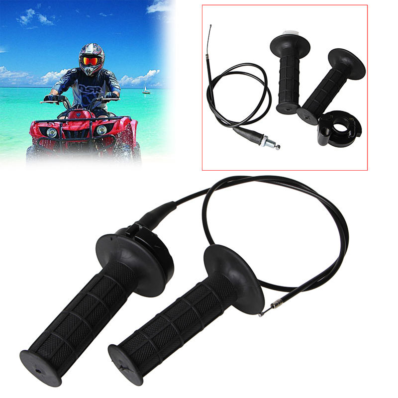 lowest price 1 Pair Black 22MM Throttle Grip Casing With Cable Handle Bar Fit Grips For Honda
