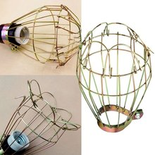 Industrial iron Wire Lamp Cover Light Bulb Guards Clamp Metal Lamp Cage Shape Light Shades Trouble Light Parts(China)
