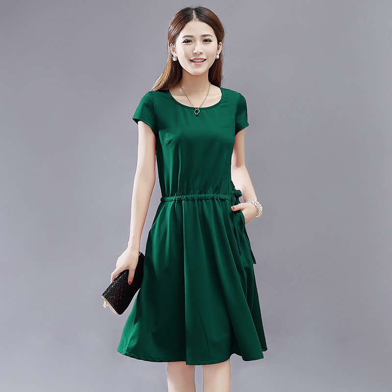 Dark Green Casual Dress - Missy Dress