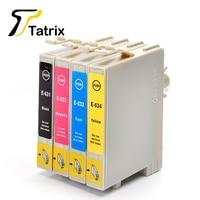 4PK T0631 T0632 T0633 T0634 Full Ink Cartridge Compatible For Epson Stylus C67/C87/CX3700/CX4100/CX4700/CX5700F/CX7700