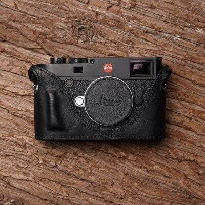 Mr.Stone Handmade Genuine Leather Camera case Video Half Bag Camera Bodysuit For LEICA M10 Camera