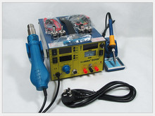 Upgrade saike 909D+ 3 in 1 Hot air gun rework station Soldering station dc power supply 220V or 110V
