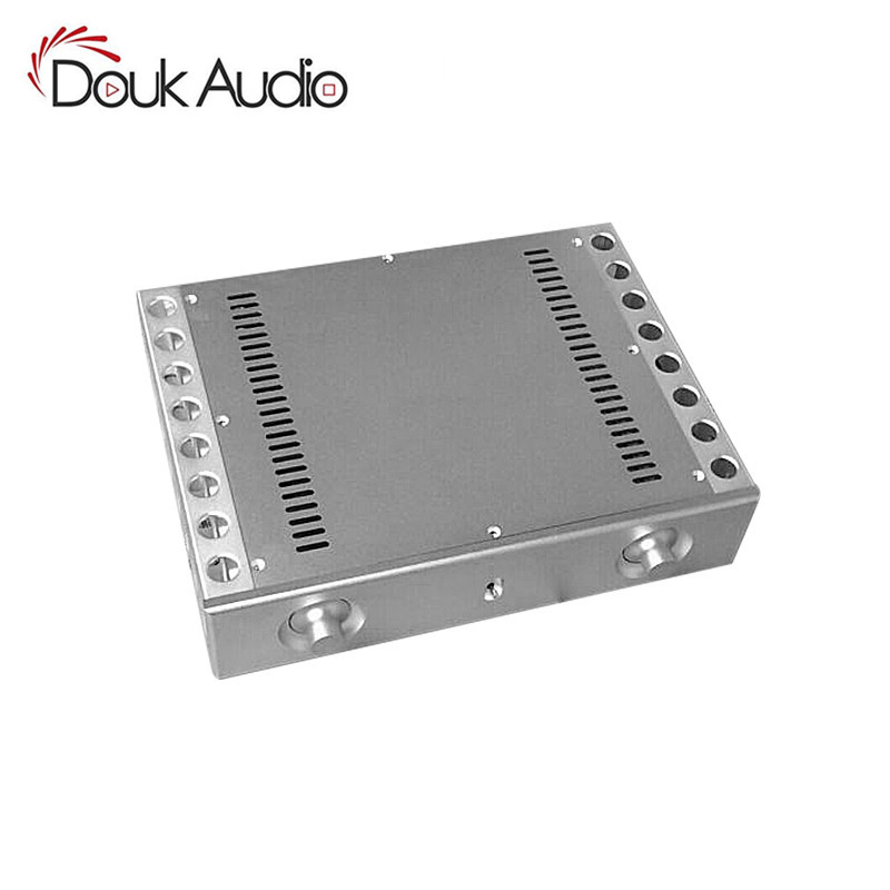 Nobsound Aluminum CNC Chassis Heatsink Amplifier Enclosure DIY Audio Case Cabinet Box все цены