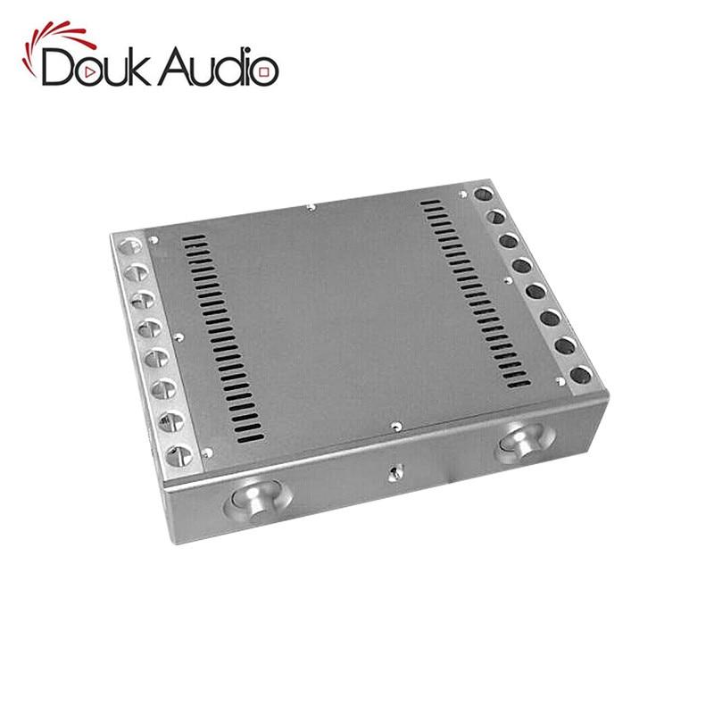 Nobsound Aluminum CNC Chassis Heatsink Amplifier Enclosure DIY Audio Case Cabinet Box nobsound hi end cnc aluminum chassis power amplifier enclosure diy case w361 h85 d270mm