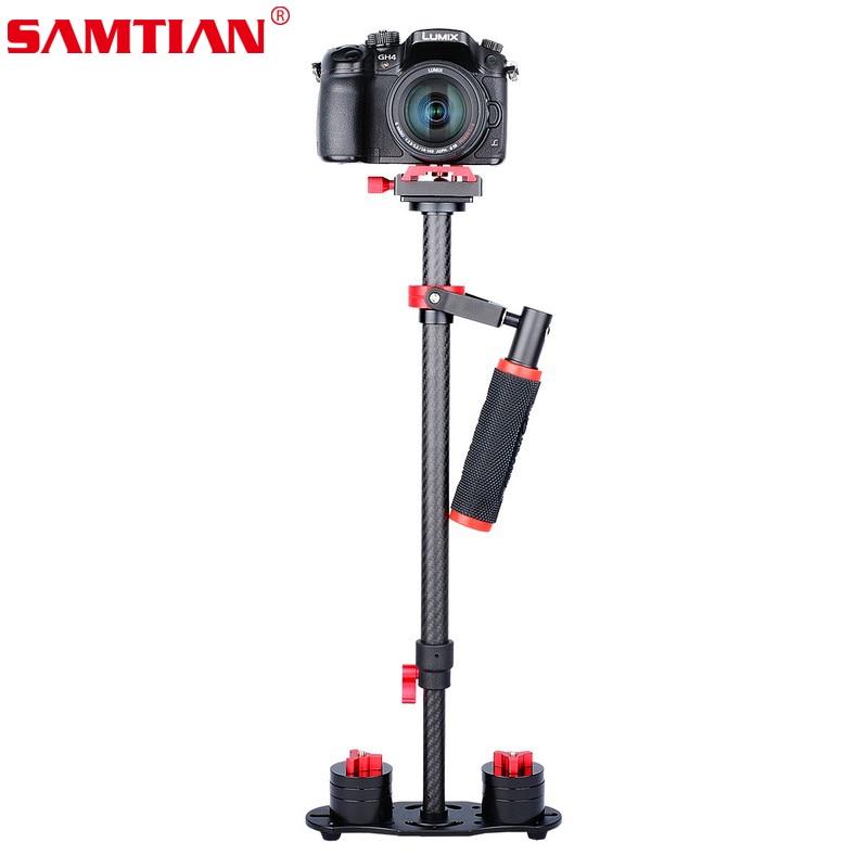 SAMTIAN Portable Steadycam Carbon Fiber 3kg 38.5-61cm Handheld Stabilizer Steadicam for Camera Camcorder DV DSLR