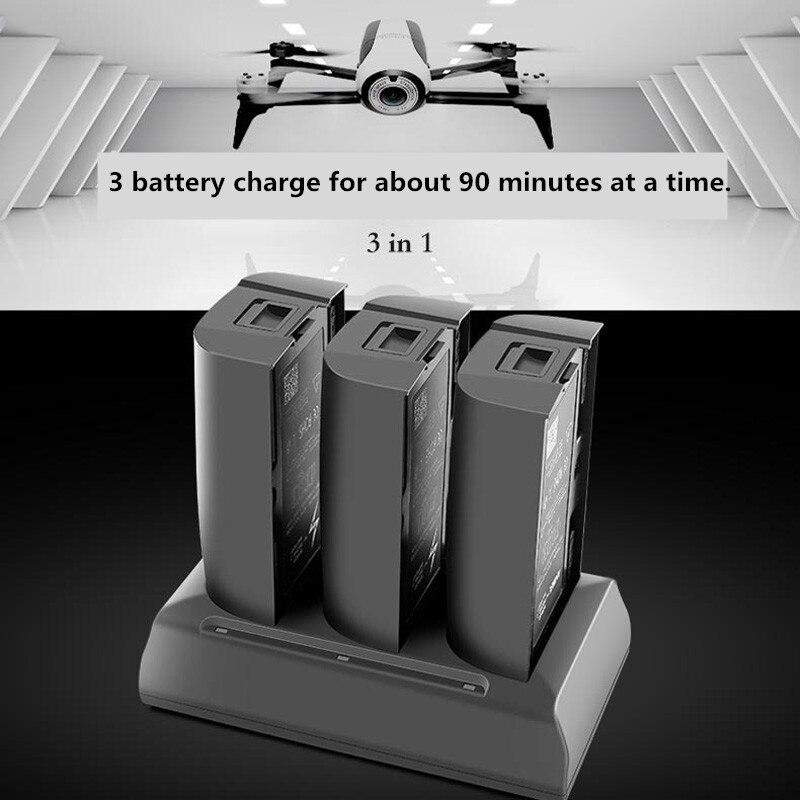 3 en 1 chargeur de batterie Intelligent parallèle plaque de charge Hub charge rapide de 3 batteries pour perroquet Bebop 2 drone FPV