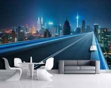 Пользовательские фото обои городской дороги для спальни гостиной