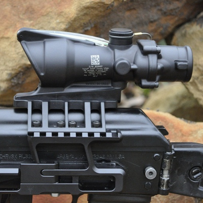 ACOG 4X32 Optical Rifle Scope Real Fiber Optics Green Illuminated Crosshair Hunting Riflescopes