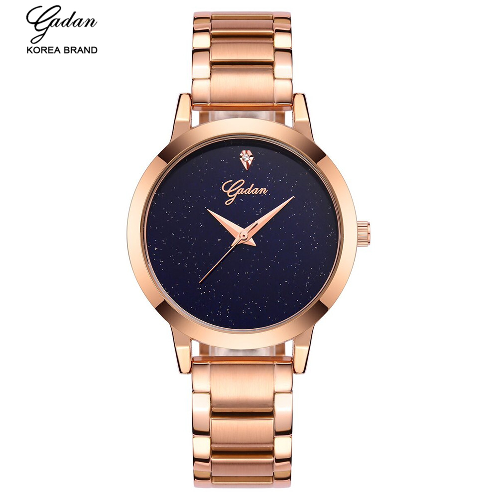 ФОТО YADAN 8080 Rose Gold Lady Watches, Alloy Stainless Steel Casual Fashion Waterproof Business Luxury Brand Ladies Watchmontre feme