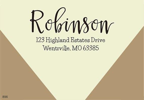 Auto Encrage Adresse Postale Timbre personnalisé timbre en caoutchouc Adresse de Retour Timbre calligraphie style 2x1 pouces dans Timbres de Bureau et des Fournitures Scolaires