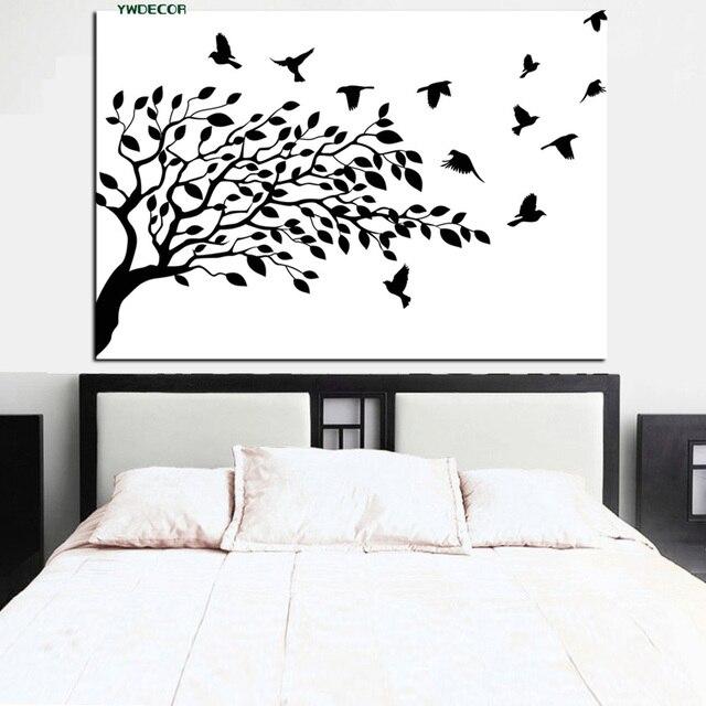Impresión Hd Blanco Y Negro El árbol De La Vida Pájaro En Ramas