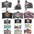 Fashion Magic Wearable Hooded Throw Blanket Sugar Skull Flower Fleece Fabric Sofa Couch Bed Cover Carpet 1.5*2m Christmas Gift