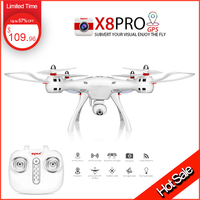 Professional New Syma X8 PRO Drones with HD WIFI FPV 720p Camera include GPS FPV Quadcopter Remote Control RC Helicopter