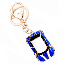 Novelty Items Fashion Trinket Rhinestone Vintage Car styling Keychain Alloy Keyring Charm Women Handbag Bag Key