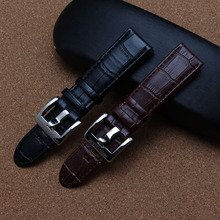 High quality watchband 22mm black brown with polished metal buckle brand bracelet men watch accessories for luxury watch hours