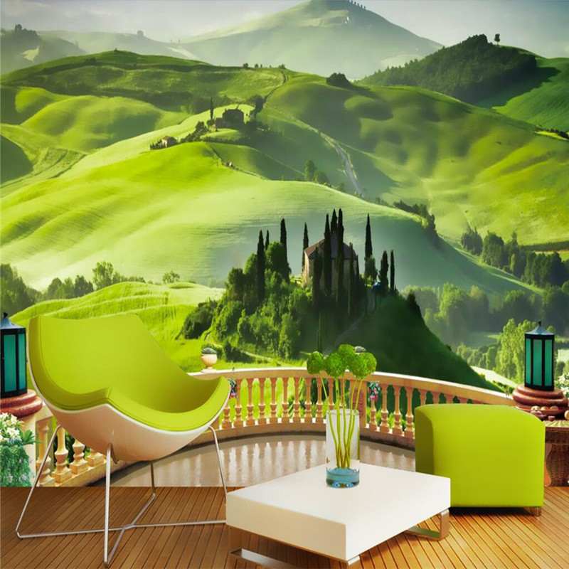Online get cheap tv balcony alibaba group for Cheap green wallpaper