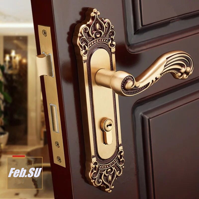 EURO STYLE BRASS MATERIAL DOOR HANDLE LOCK WITH LOCK BODY AND CYLINDER t handle vending machine pop up tubular cylinder lock w 3 keys vendo vending machine lock serving coffee drink and so on