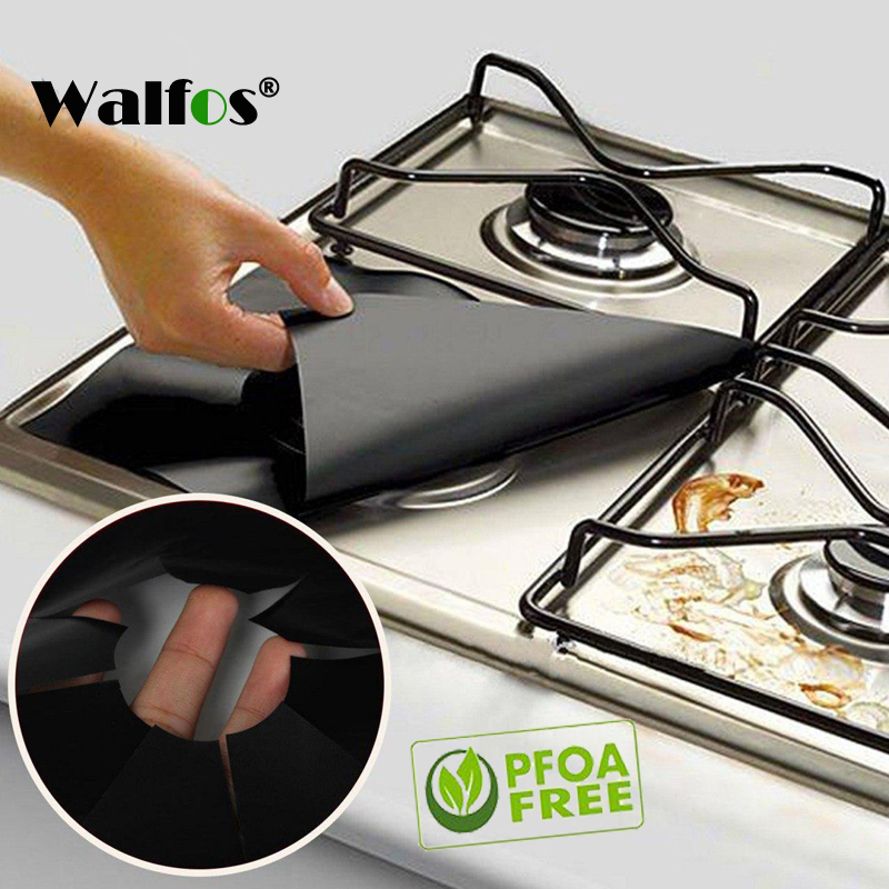 2pcs/lot Reusable Gas Range Stovetop Burner Protector Liner Cover For Cleaning Kitchen Tools ...