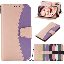 цены на Luxury Mangetic Two Colors Designed PU Flip Leather Case For iPhone X XS MAX XR Wallet Stand Case for iPhone 6 6s 7 8 Plus Cover  в интернет-магазинах