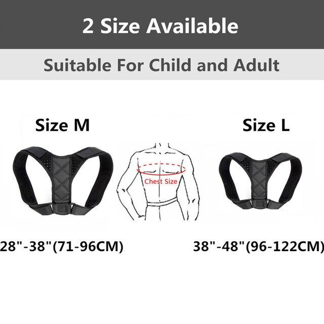 Medical Adjustable Clavicle Posture Corrector Men Woemen Upper Back Brace Shoulder Lumbar Support Belt Corset Posture Correction 3
