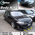 Bumper Lip Deflector Lips For Renault Scenic Front Spoiler Skirt For TopGear Friends Car Tuning View / Body Kit / Strip