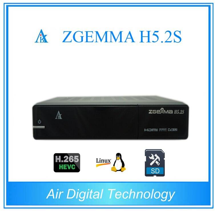 20pcs/lot Zgemma H5.2S 2* DVB-S2 Linux Enigma 2 Dual Core Digital TV Receiver HEVC H.265 SET TOP BOX 10pcs zgemma star i55 support satip iptv box bcm7362 dual core mainchipset 2000 dmips cpu linux enigma 2 hdmi connection