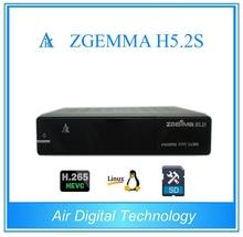 20pcs/lot Zgemma H5.2S 2* DVB-S2 Linux Enigma 2 Dual Core Digital TV Receiver HEVC H.265 SET TOP BOX
